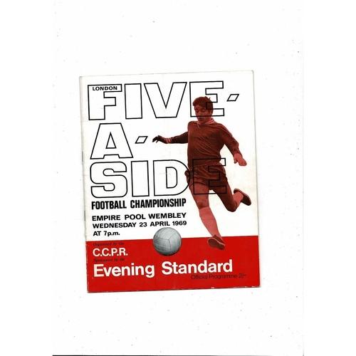 1969 London Five a side Football Programme
