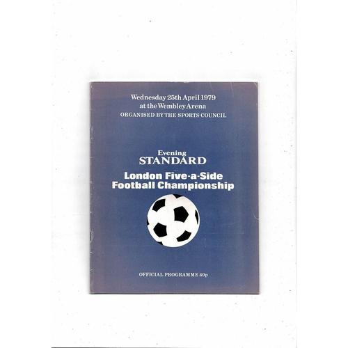 1979 London Five a side Football Programme