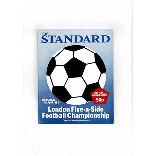 1983 London Five a side Football Programme