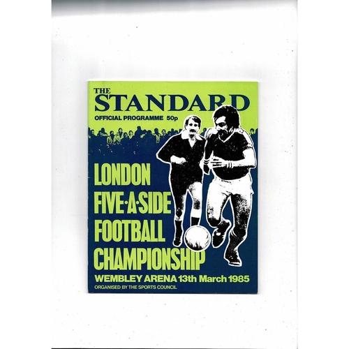 1985 London Five a side Football Programme