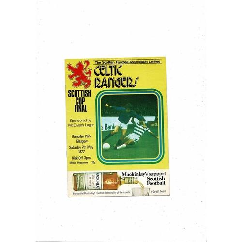1977 Celtic v Rangers Scottish Cup Final Football Programme