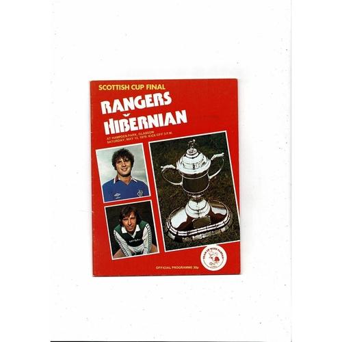 1979 Rangers v Hibernian Scottish Cup Final Football Programme