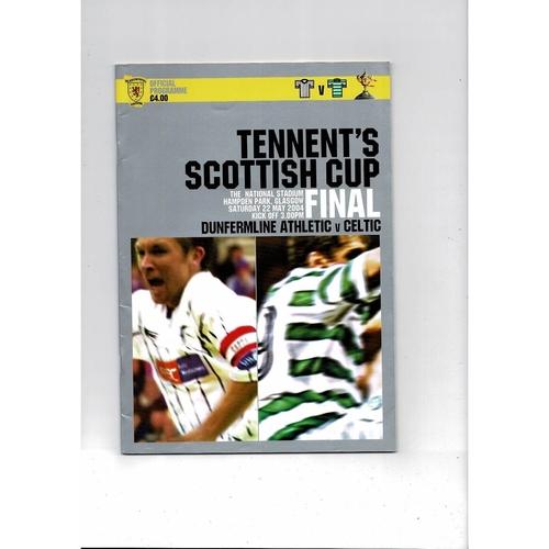 2004 Dunfermline v Celtic Scottish Cup Final Football Programme