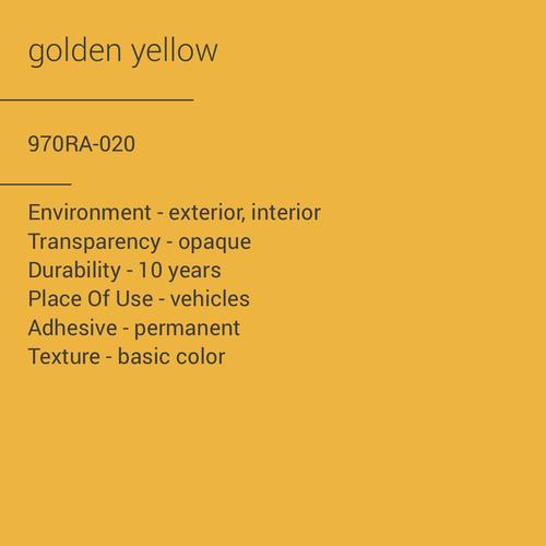 ORACAL® 970RA-020 - Golden Yellow