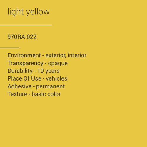 ORACAL® 970RA-022 - Light Yellow