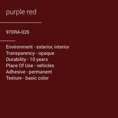 ORACAL® 970RA-026 - Purple Red