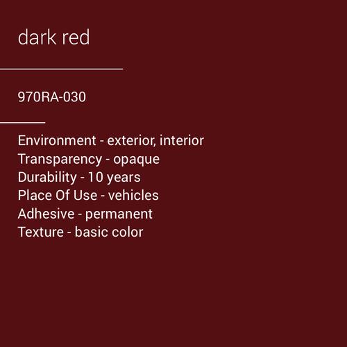 ORACAL® 970RA-030 - Dark Red