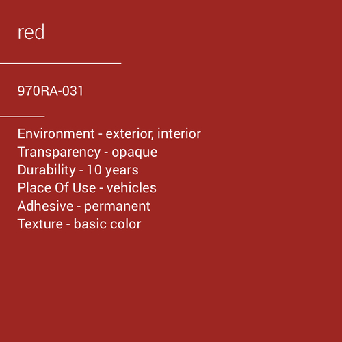 ORACAL® 970RA-031 - Red