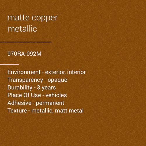 ORACAL® 970RA-092M -  Matte Copper Metallic