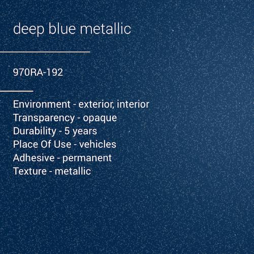 ORACAL® 970RA-192 - Deep Blue Metallic