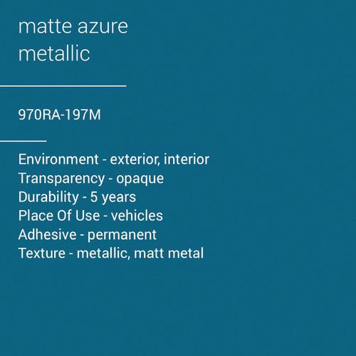 ORACAL® 970RA-197M - Matte Azure Metallic