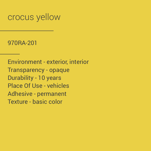 ORACAL® 970RA-201 - Crocus Yellow