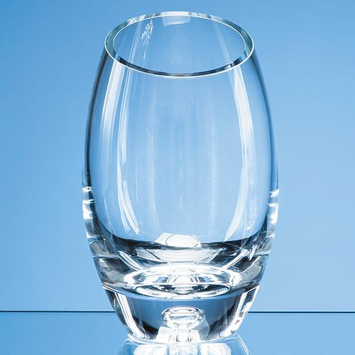 Handmade Bubble Base Oval Vase  24cm
