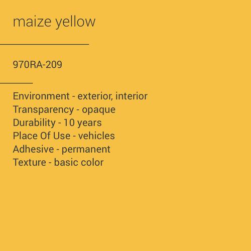 ORACAL® 970RA-209 - Maize Yellow