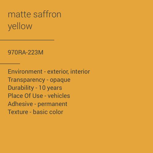 ORACAL® 970RA-223M - Matte Saffron Yellow