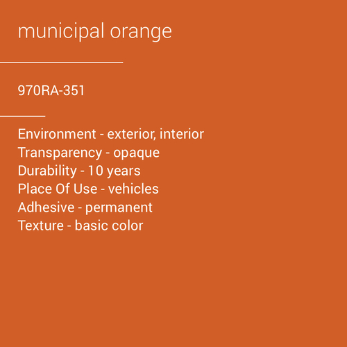 ORACAL® 970RA-351 - Municipal Orange