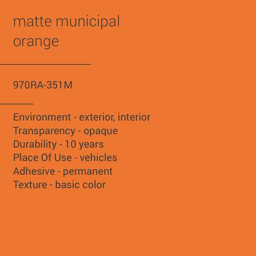 ORACAL® 970RA-351M - Matte Municipal Orange