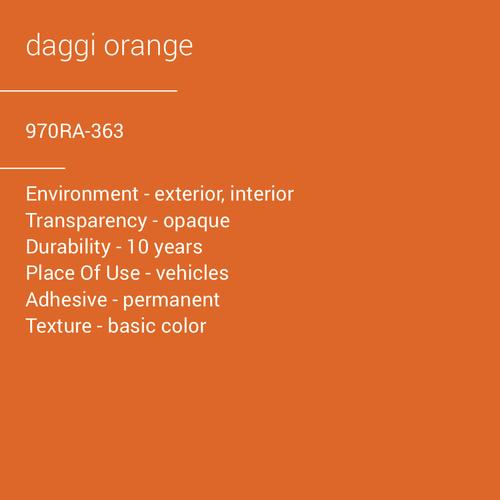ORACAL® 970RA-363 - Daggi Orange