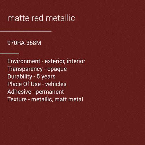 ORACAL® 970RA-368M - Matte Red Metallic