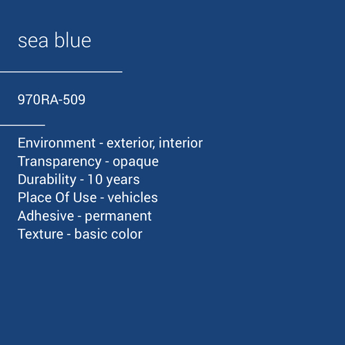 ORACAL® 970RA-509 - Sea Blue