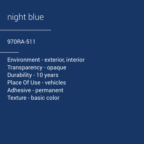 ORACAL® 970RA-511 - Night Blue