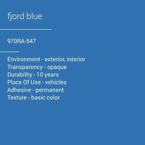 ORACAL® 970RA-547 - Fjord Blue
