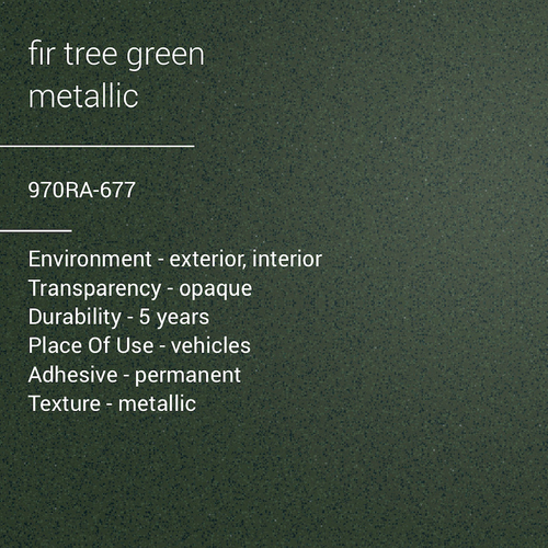 ORACAL® 970RA-677 - Fir Tree Green Metallic