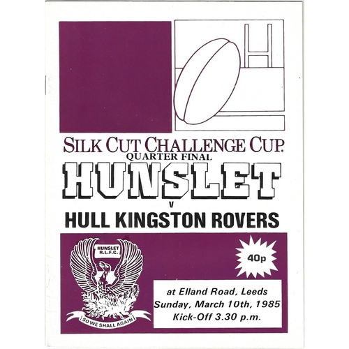 Hull Kingston Rovers Away Rugby League Programmes