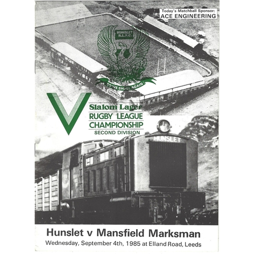 Mansfield Marksman Away Rugby League Programmes