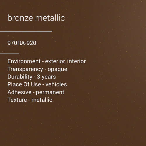 ORACAL® 970RA-920 - Bronze Metallic