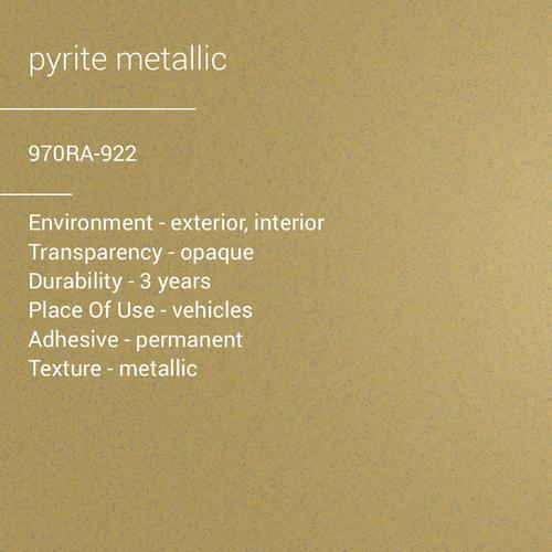 ORACAL® 970RA-926 - Pyrite Metallic