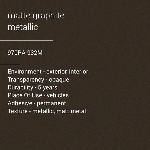 ORACAL® 970RA-932M - Matte Graphite Metallic