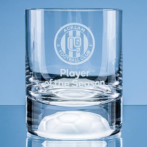 Handmade Football Base Whisky Tumbler - 10oz