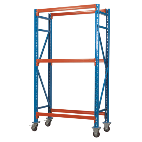 Two Level Mobile Tyre Rack 200kg Capacity Per Level - Sealey - STR007