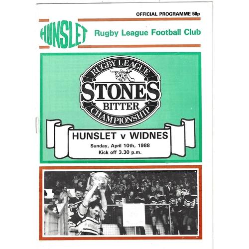 1987/88 Hunslet v Widnes Rugby League programme