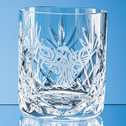 Glencoe Lead Crystal Panel Whisky Tumbler - 400ml