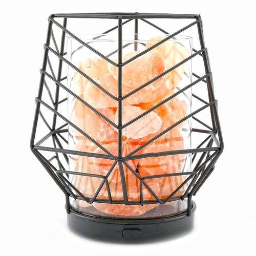 Black Wired LED Himalayan Salt Lamp