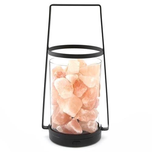 Black LED Himalayan Salt Lamp Lantern