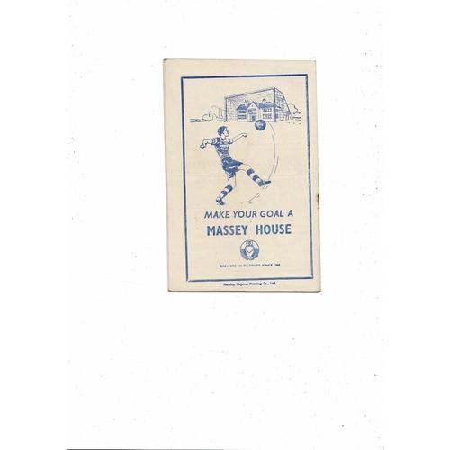 1952/53 Burnley v Preston Football Programme