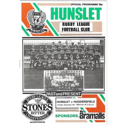 Huddersfield Away Rugby League Programmes