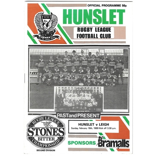 Leigh Away Rugby League Programmes