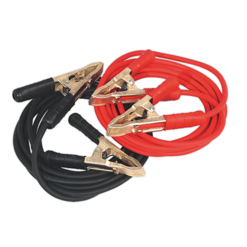 Booster Cables Extra-Heavy-Duty Clamps 25mm² x 5m Copper 650A - Sealey
