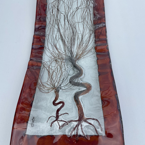 Copper Brown - (Two Autumn Trees) Rectangular Plate