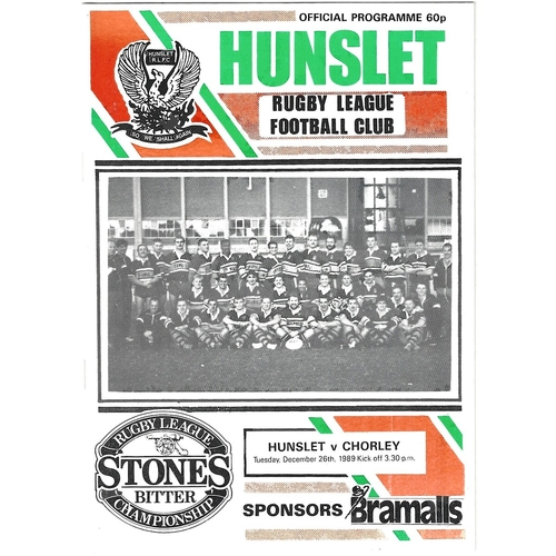 Chorley Borough (New) Home Rugby League Programmes