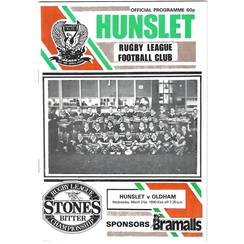 Oldham Away Rugby League Programmes
