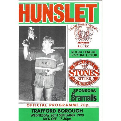 Trafford Borough Away Rugby League Programmes
