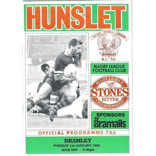 1990/91 Hunslet v Bramley Rugby League programme