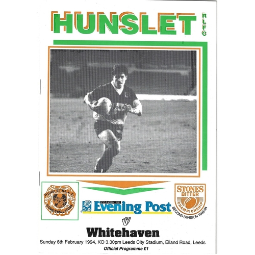 Whitehaven Away Rugby League Programmes