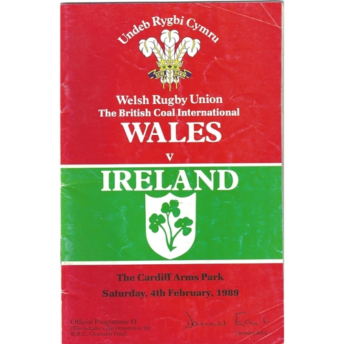 5 Nations/6 Nations Rugby Union Programmes