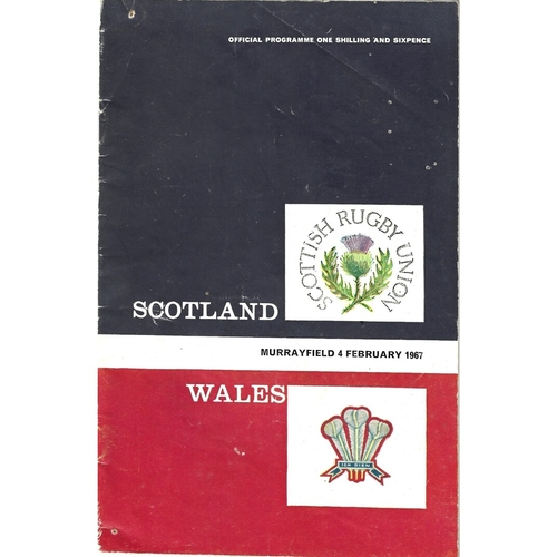 1967 Scotland v Wales 5 Nations Rugby Union Programme